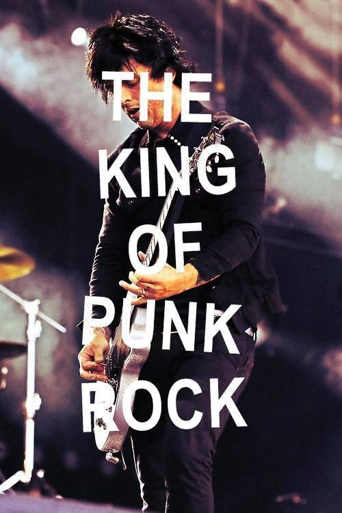 . Green day isn't punk rock. It's like really popy punk rock or really punk rock pop punk AMEN!!!