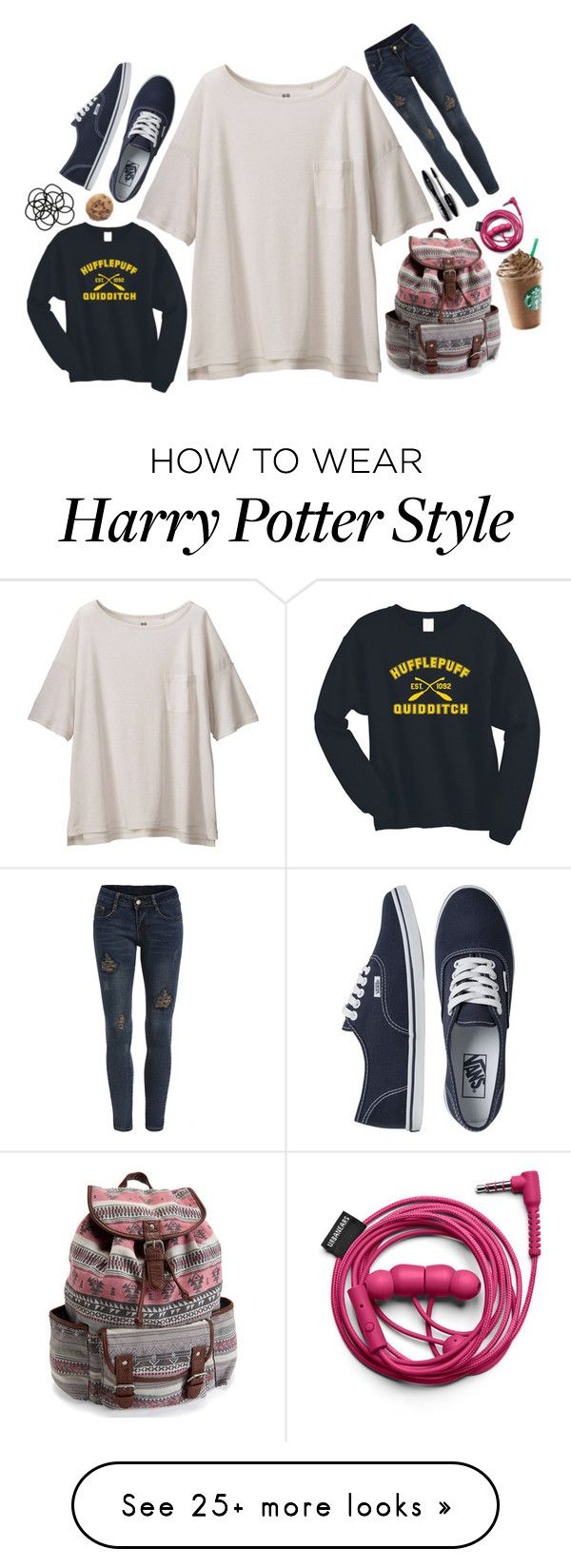 """""""Chapter 1: New Jersey"""" by anabelaheffner on Polyvore featuring Uniqlo, Vans, Monki, Aéropostale, Lancôme, women's clothing, women, female, woman and misses"""