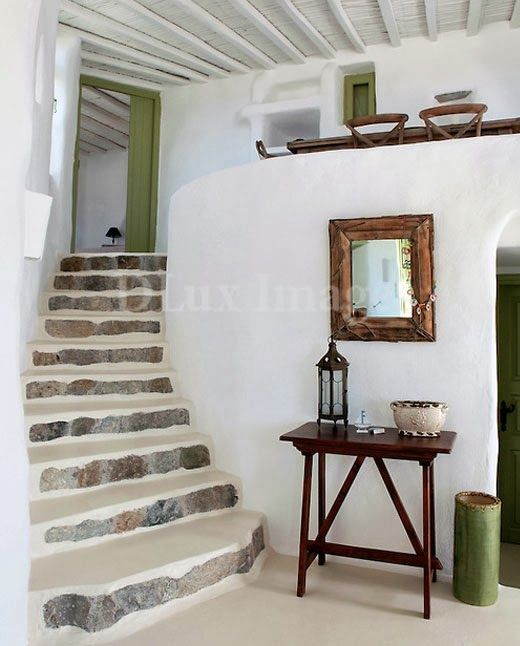 Rustic bohemian style in Mykonos