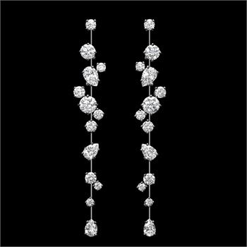 Harry Winston -Nightlife platinum earrings set with diamonds. New York collection.  YES PLEASE!