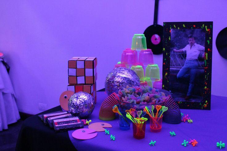 Mesa principal!! #años80's #color #amor