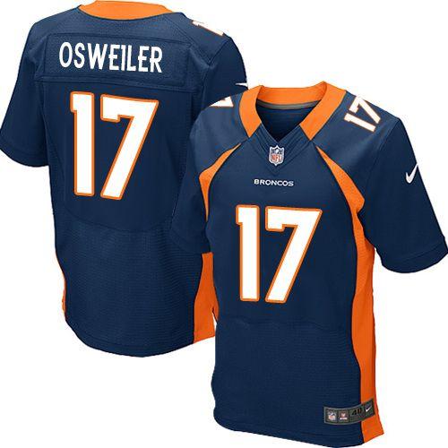 Nike Mens Limited Navy Blue Alternate Jersey Denver Broncos Brock Osweiler  17 (New Elite Nike Mens Peyton Manning Navy Blue Super Bowl XLVIII Jersey)  Denver ... 92b29ed69