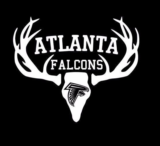 Deer Hunting Antler Truck or Car Window Decal Sticker Atlanta Falcons Football #VERHINEDESIGNS #CarDecal