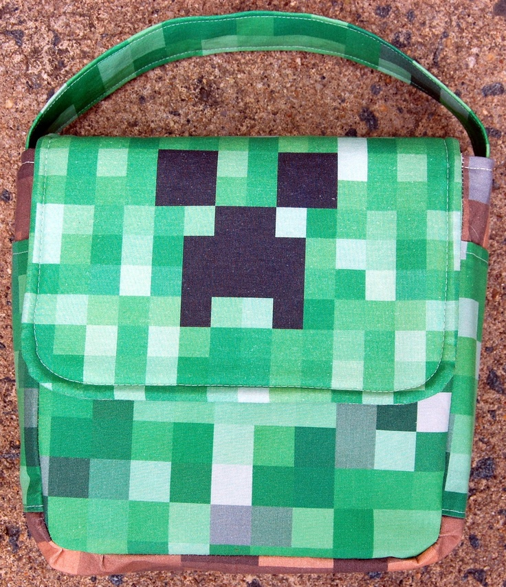 Minecraft Lunch Bag. $35.00, via Etsy.