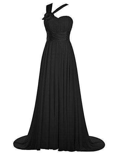 Dresstells® Long Chiffon Sweetheart Lace Up Prom Dress with Straps Wedding Dress…