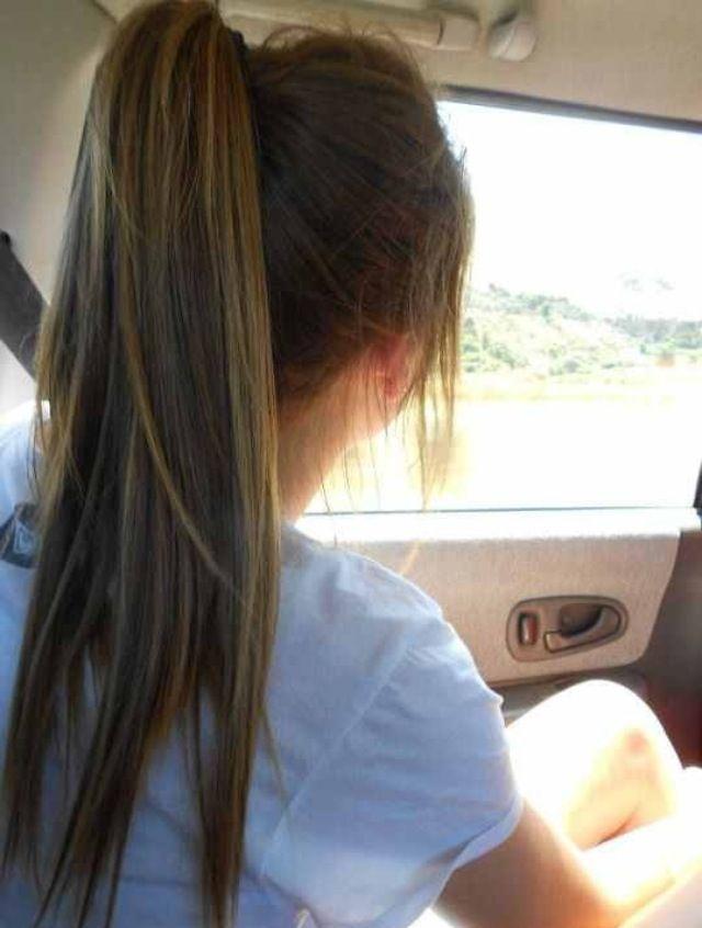perfect ponytail: Hairstyles, Hair Colors, Colored Hair, Hair Styles, Haircolor, Makeup, Blue Hair, Beauty, Hair Colour