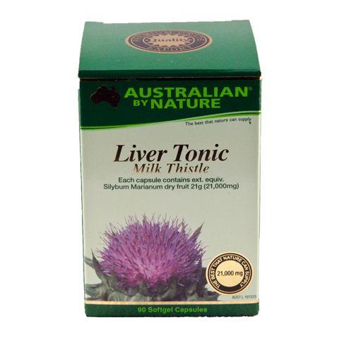 Liver Tonic Milk Thistle – Australian by Nature – 90 Capsules | Shop Australia
