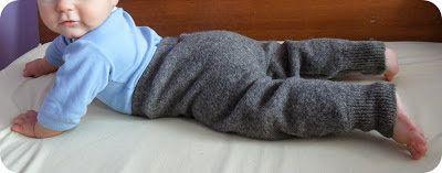 Spodenki z wełnianych swetrów