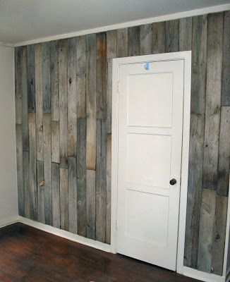 Little Vintage Cottage Whole House Redo My Bedroom Reclaimed Fence Board Wall