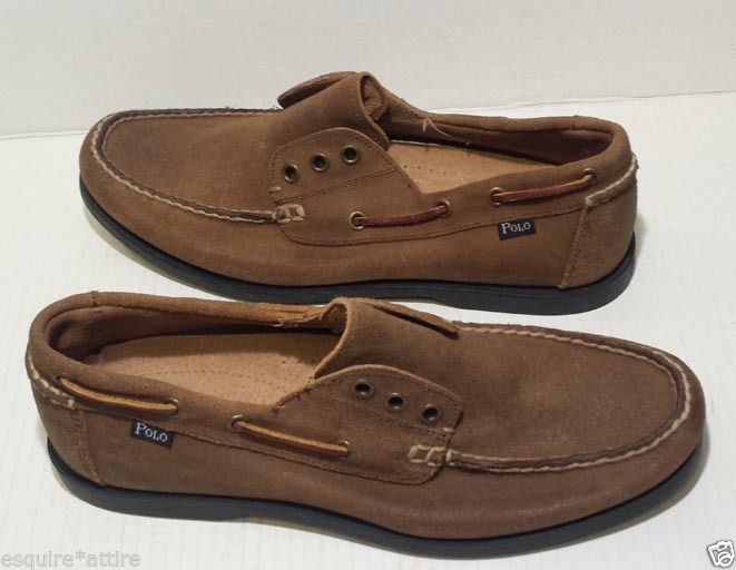 #ebay men shoes boots POLO Ralph Lauren men size 9 boat shoes leather brown BEDMISTER shoelaces less RalphLauren withing our EBAY store at  http://stores.ebay.com/esquirestore