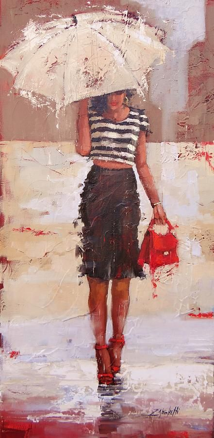Tip Toe Painting by Laura Lee Zanghetti