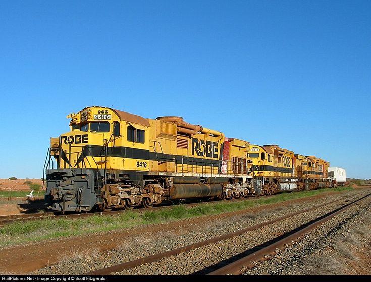 RailPictures.Net Photo: 9416 9413 9415 Robe River Iron Associates MLW M636 at Pilbara Region, Australia by Scott Fitzgerald