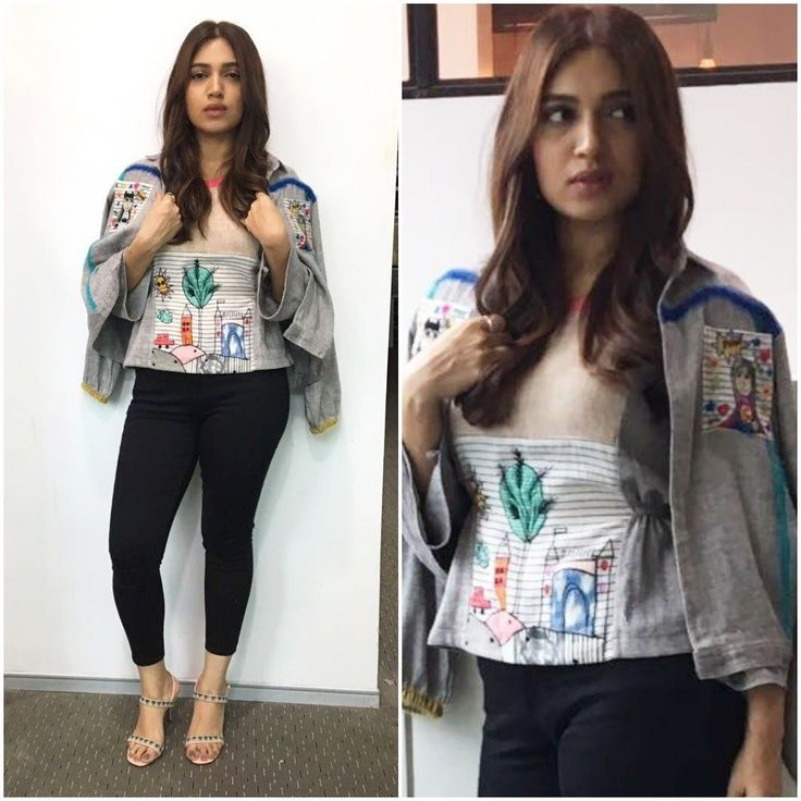 #BhumiPednekar | @psbhumi for the promotions of her movie 'Shubh Mangal Savdhaan'. Top and superwoman jacket - @themerakiproject Styled by - @aasthasharma .  #Bhumi #fashion #fashionblogger #fashionista #fashionable #fashionblog #fashiongram #fashionstyle #fashiondiaries #mumbai #beautiful #hot #looks #lips #hair #womensFashion #inspo #indiangirl  #photooftheday #fashionindia #indianfashion #instabeauty #instastyle