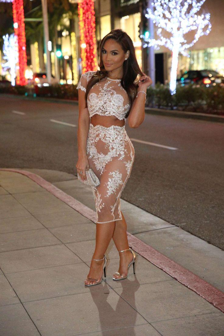 Daphne joy in white dress gotceleb celebrity fashion trends