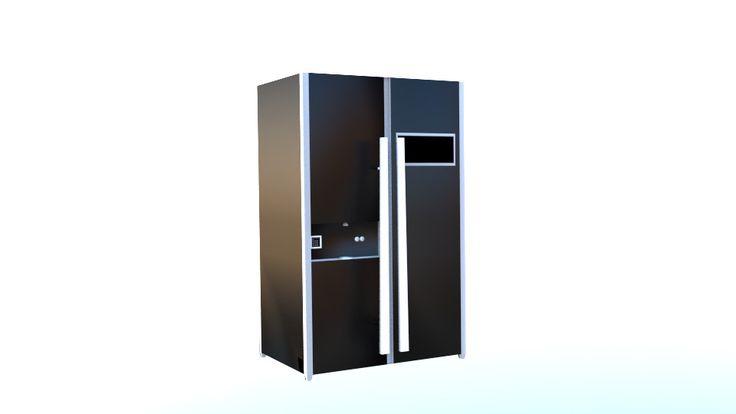 3D Modern Refrigerator Model - 3D Model
