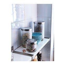 IKEA - DROPPAR, Bocal avec couvercle, Bocal transparent afin de trouver ce que l'on cherche, peu importe l'angle.Réduction du gaspillage alimentaire : ranger les aliments secs dans un bocal avec couvercle. Ils resteront frais plus longtemps.