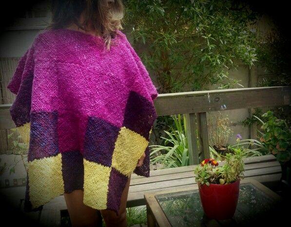Inspiracion inca, poncho confeccionado a telar en lana de oveja