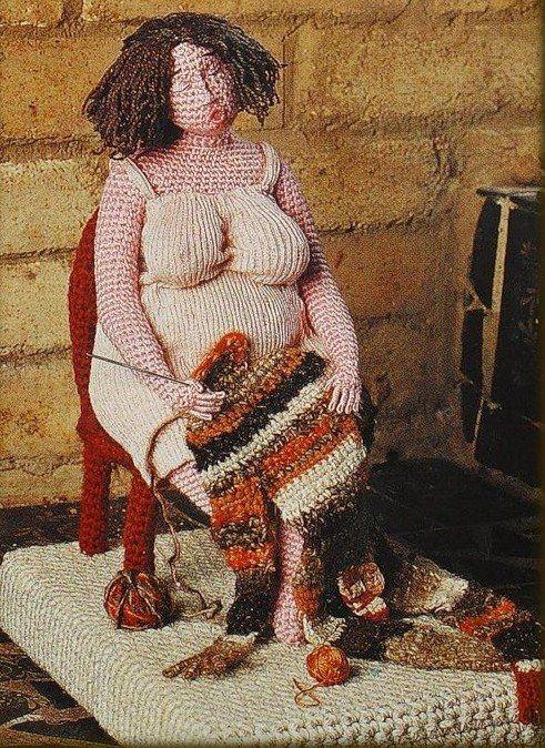 Crocheted sculptures - Yulia Ustinova.  Вязаные скульптуры Юлии Устиновой.