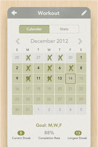 Habit List Calendar