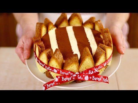 CHARLOTTE DI PANDORO - Ricetta facile per un Dolce di Natale bello,Veloce e senza cottura - YouTube