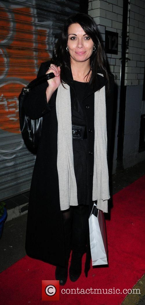 Alison King leaves the Cassie Lomas Makeup Academy launch. Description from…