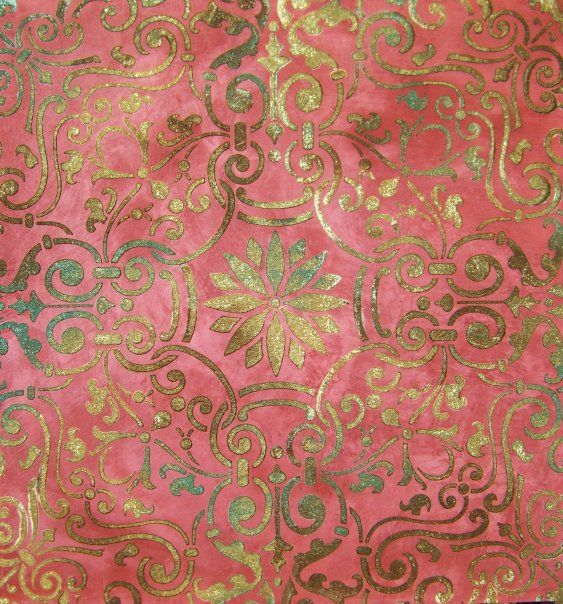 Antique Bronze, Pale Gold and Mystical Green Metallic Paint on Embossed Stencil Sample | Faux Maison