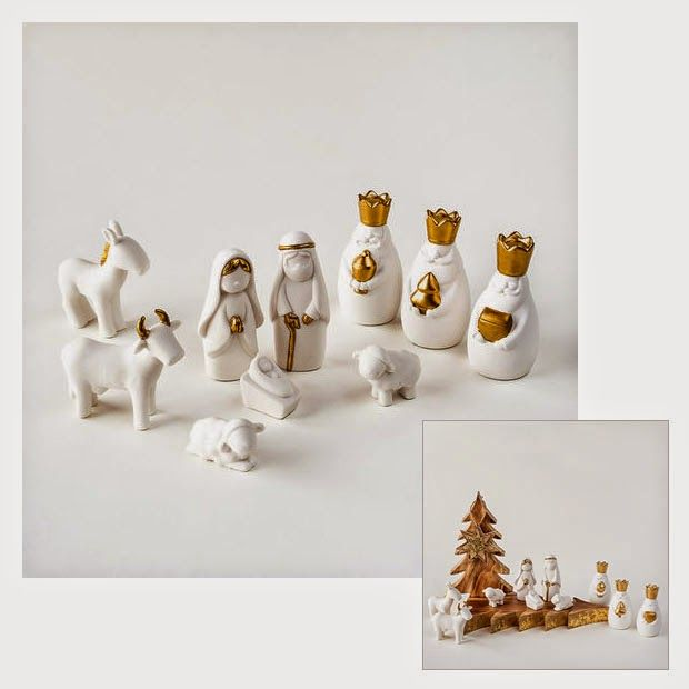 Modern Design - Design Blog about Modern Furniture Design: miniature white nativity set