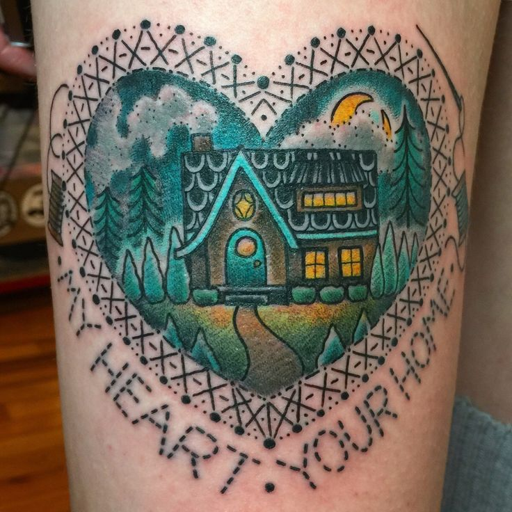 My heart your home jenn small 510 expert tattoo for Tattoos in charlotte nc