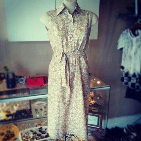 #vintage #floral #dress $49 #majdolva #handcrafted #ceramic #crucifix #pendant #necklace $15 #floralfun #flowers #flowerlove #flora #soft #pretty #autumn