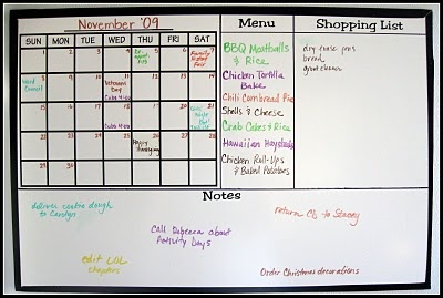 I don't know that we need the menu/shopping list but I like the idea of breaking it up into different spaces.