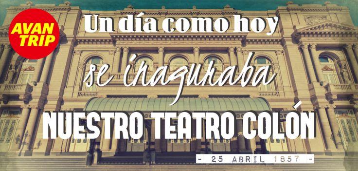 """25 DE ABRIL - Un día como hoy....Se inauguraba el Teatro Colón por primera vez. En la apertura se estrenó la ópera """"La Traviata"""", de Guiseppe Verdi. ¿Sabés dónde quedaba su antigua ubicación? #TeatroColon #Argentina #Efemerides #BuenosAires #BsAs"""