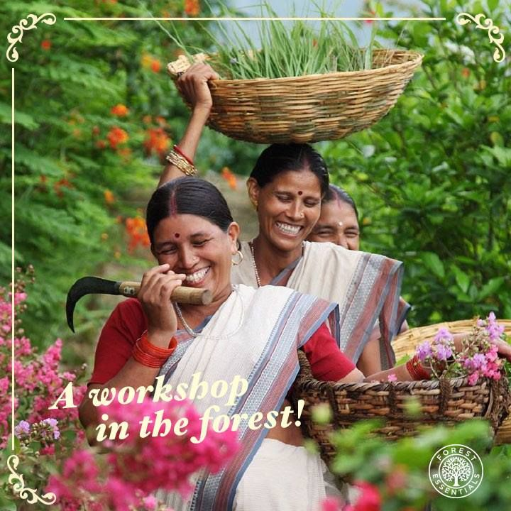 At #ForestEssentials, we believe in caring for people.   Our workshop in the Himalayas provides employment to many & an alternate source of income for the population.