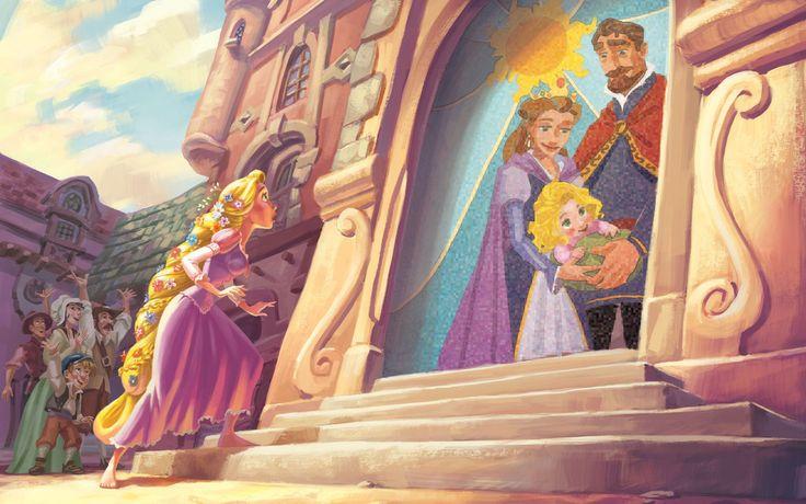 In Rapunzel, la ragazza dai lunghi capelli dorati si arrangia come può e affronta la vita nella torre tenendosi impegnata con ogni genere di attività. La sua natura curiosa e il suo senso dell'avventura la spingono a desiderare di esplorare il mondo esterno alla torre e il suo fedele amico Pascal non fa che incoraggiarla.