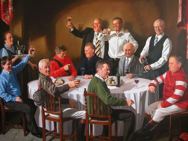 Hardwick Hall Hotel mural featuring Tony Blair, Sedgefield. Oil on canvas 4.5m x 3.5m