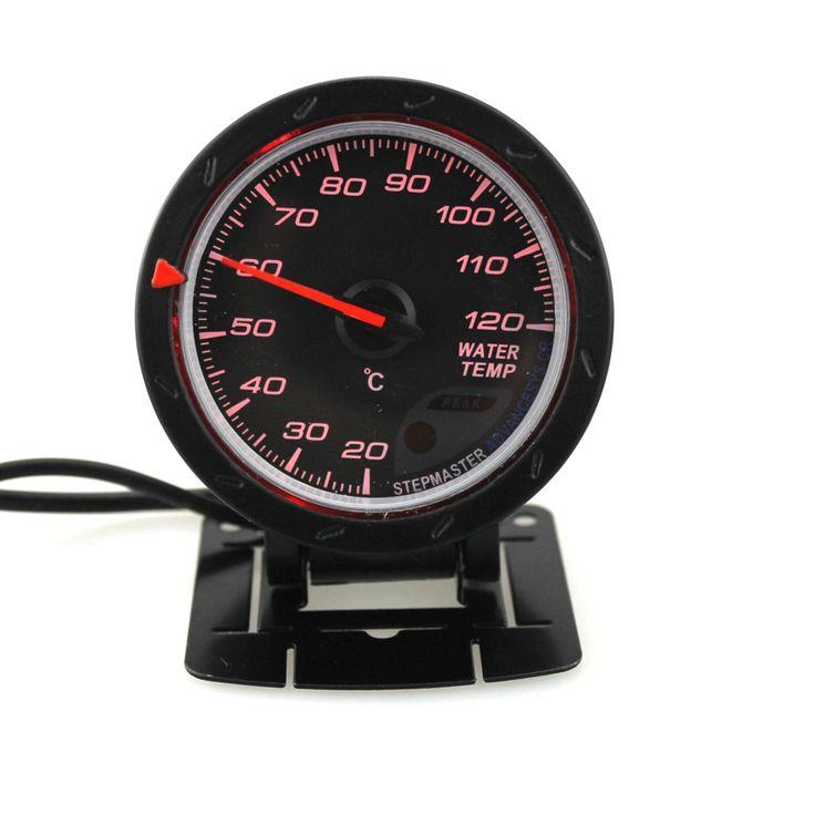 60mm Coche Medidor de la temperatura del agua con Sensor Cara negra 20-120 centígrados del medidor de la temperatura del agua