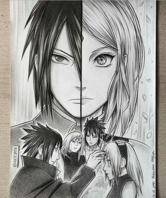 Whoever did this is an artist sasuke and sakura sasusaku