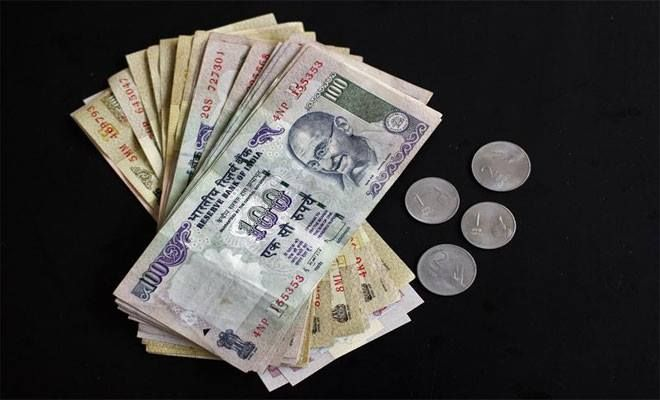 Continuing its slide, the Indian rupee today breached 64-mark against dollar by falling 98 paise to trade at record low of 64.11 on persistent dollar demand and a weak opening in the domestic equity market.