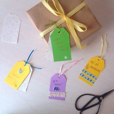 Shining Minds: Doğum günü Hediye Etiketleri / Birthday Gift Tags