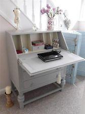 Pretty Vintage Shabby Chic Writing Bureau / Desk Hand Painted