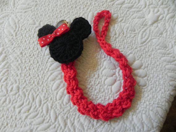 Minnie/ Mickey.... Paci Clip..Pacifier Clip by azsunshine on Etsy