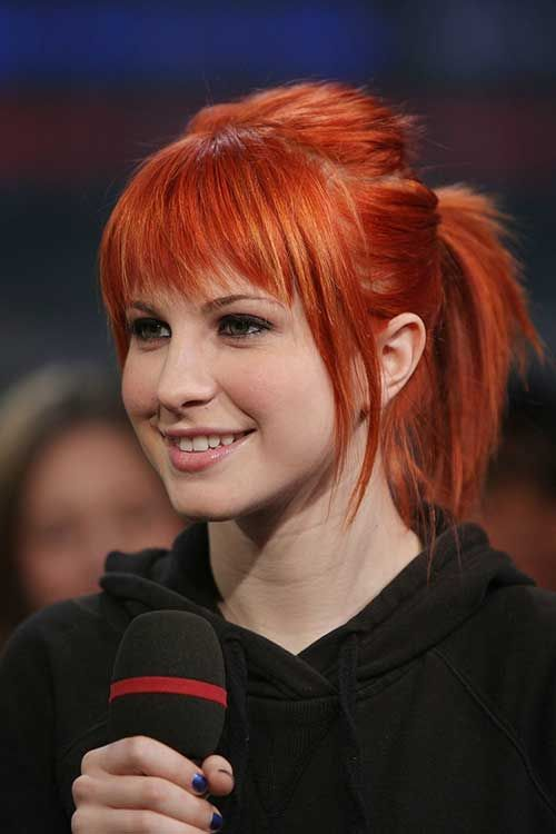 Bakır Kızıl Kısa Kahküllü Saç