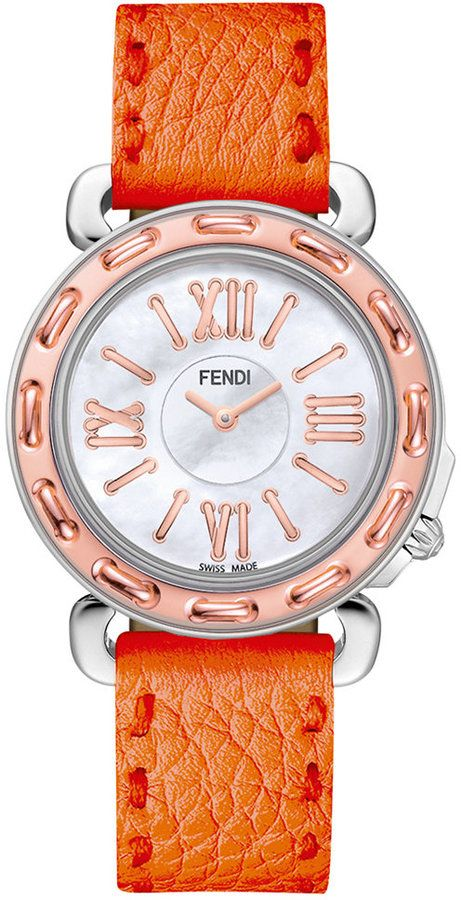 Fendi Timepieces Women's Swiss Selleria Two-Tone Stainless Steel Watch Head 37mm