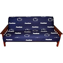 @Overstock.com - Pennsylvania State University Full-size Futon Cover - Show off your favorite team logo in style with this Penn State coverTraditional futon cover is crafted of 100-percent cotton duck 200 thread count fabricFuton cover offers a sturdy yet soft feel  http://www.overstock.com/Home-Garden/Pennsylvania-State-University-Full-size-Futon-Cover/4395169/product.html?CID=214117 $48.99