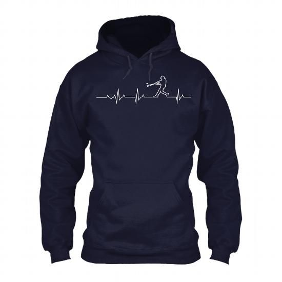 Baseball Heartbeat v2 - MLB Baseball T-shirt and Hoodie - #boho tee #tshirt template. CHECK PRICE => https://www.sunfrog.com/Sports/Baseball-Heartbeat-v2--MLB-Baseball-T-shirt-and-Hoodie-NavyBlue-Hoodie.html?68278