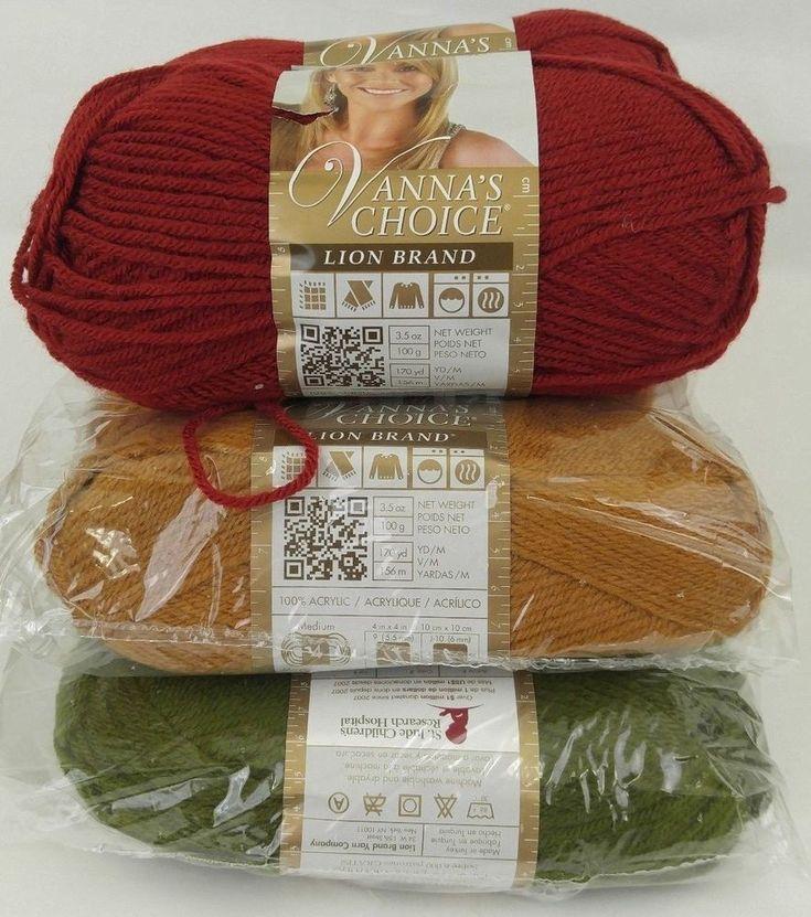 New Lot 10 Skeins Lion Brand Vanna White Choice-Brick-Olive-Honey-Yarn Variety #LionBrand #Plain