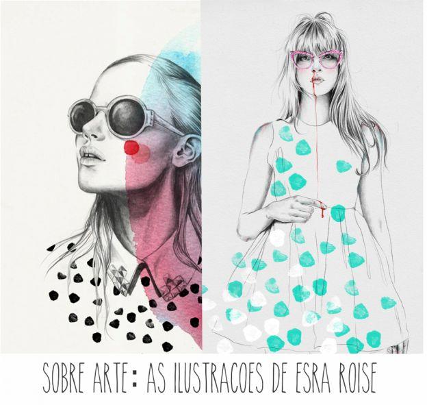 as meninas da ilustradora Esra Roise! Ela ilustra pra Vogue e outras revistas de moda. Tem mais aqui >> http://www.adoroetc.com.br/blog/sobre-arte-as-ilustracoes-de-esra-roise/