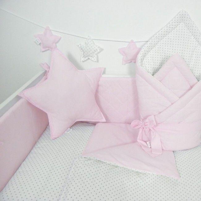 Dekbedovertrek Polka Dots Roze  #babybeddengoed #babykamer