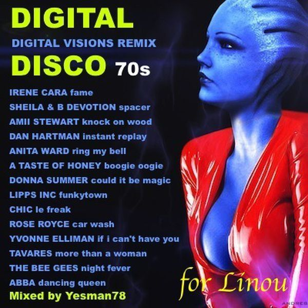 IRENE CARA fame - SHEILA & B DEVOTION spacer - AMII STEWART knock on wood - DAN HARTMAN instant replay - ANITA WARD ring my bell - A TASTE OF HONEY boogie oogie oogie - DONNA SUMMER could it be magic - LIPPS INC funkytown - CHIC le freak - ROSE ROYCE car wash - YVONNE ELLIMAN if i can't have you - TAVARES more than a woman - THE BEE GEES night fever - ABBA dancing queen (Versions Re Edit by Dj FreddyG)