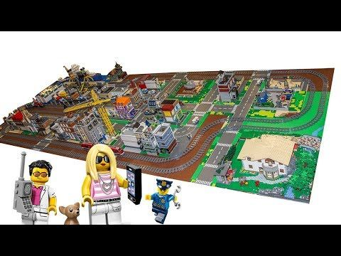 Big Lego City Layout With Loads Of Amazing Detail Stuff