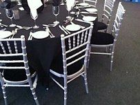 Chivari Silver with Black Seat Pad on Location